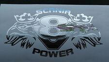 Greif Emblem mit V8 SCANIA Power Schriftzug Chrom Aufkleber für TAMIYA Truck