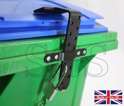 WBL250 Wheelie Bin Lid Locking Device Fully GALVANISED for Exterior Use UK Made