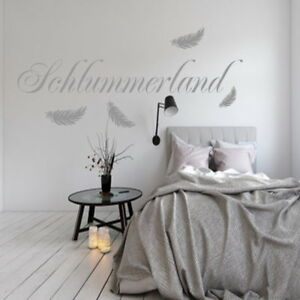 Wandtattoo AA220 Wandaufkleber Schlafzimmer Tattoo Schlummerland | eBay