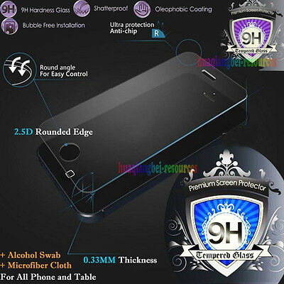 9H Premium Tempered Glass Film Screen Protector For Apple Samsung Tablet Phone