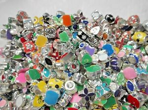 10-imparfaite-metal-email-Charme-Europeen-Perles-Mixtes-Styles-et-Couleurs