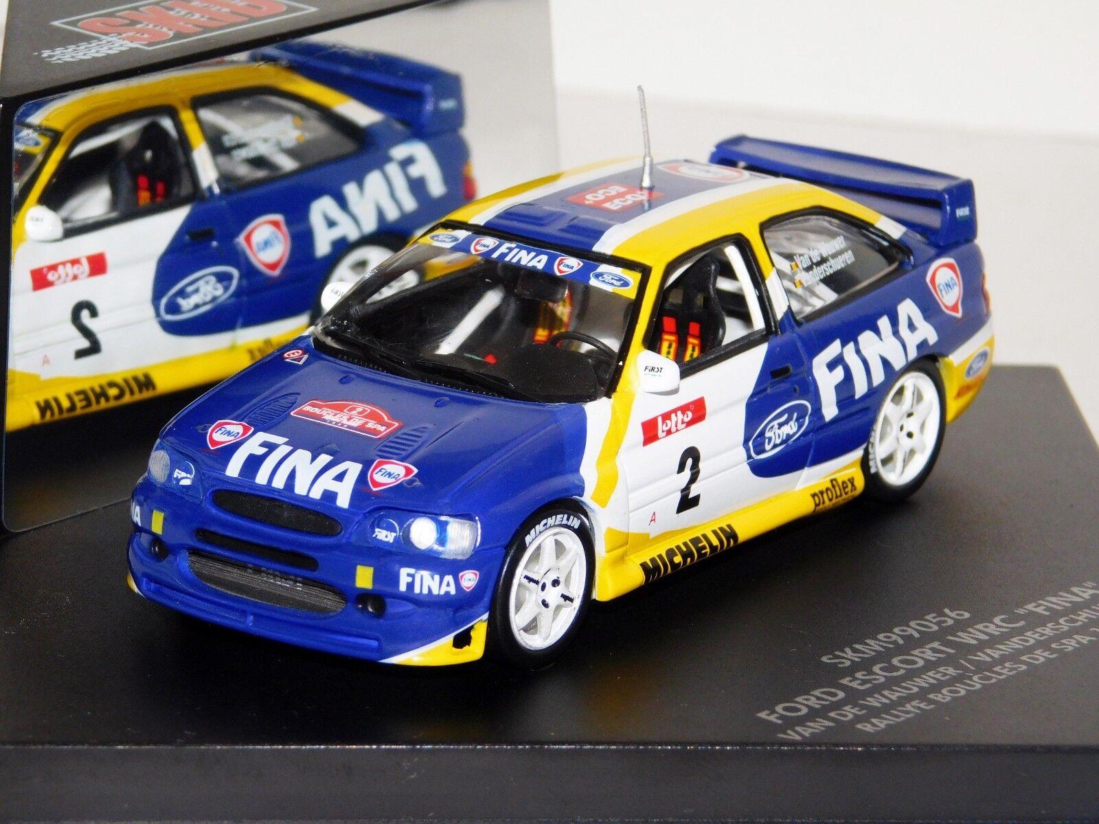 FORD ESCORT WRC FINA  2 VAN DE WAUWER RALLY BOUCLES SPA 1999 SKID SKM99056 1 43