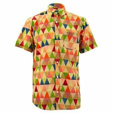 Mens Shirt Loud Originals SLIM FIT Dotty Orange Retro Psychedelic Fancy