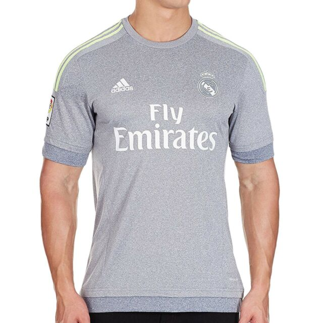 86743cc6f Adidas Mens Real Madrid Grey Away Jersey Football Soccer Free Tracked Post