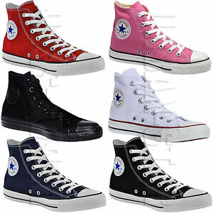 9c8c9246f6f7 Converse All Star Hi Tops Mens Womens Unisex High Tops Chuck Taylor ...