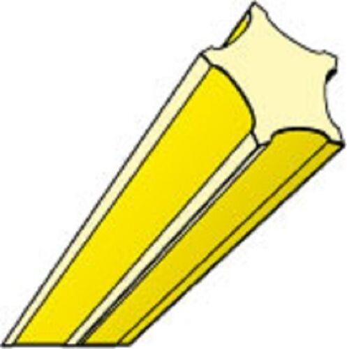 Mähfaden sternförmig 2,0 mm x 130m Oregon Starline gelb Freischneider Motorsense
