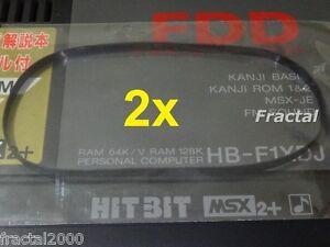 2X-MSX-2-2-Rubber-Belt-for-Floppy-Disk-Drive-SONY-HB-F1-XD-XDmk2-XDJ-XV-NEW
