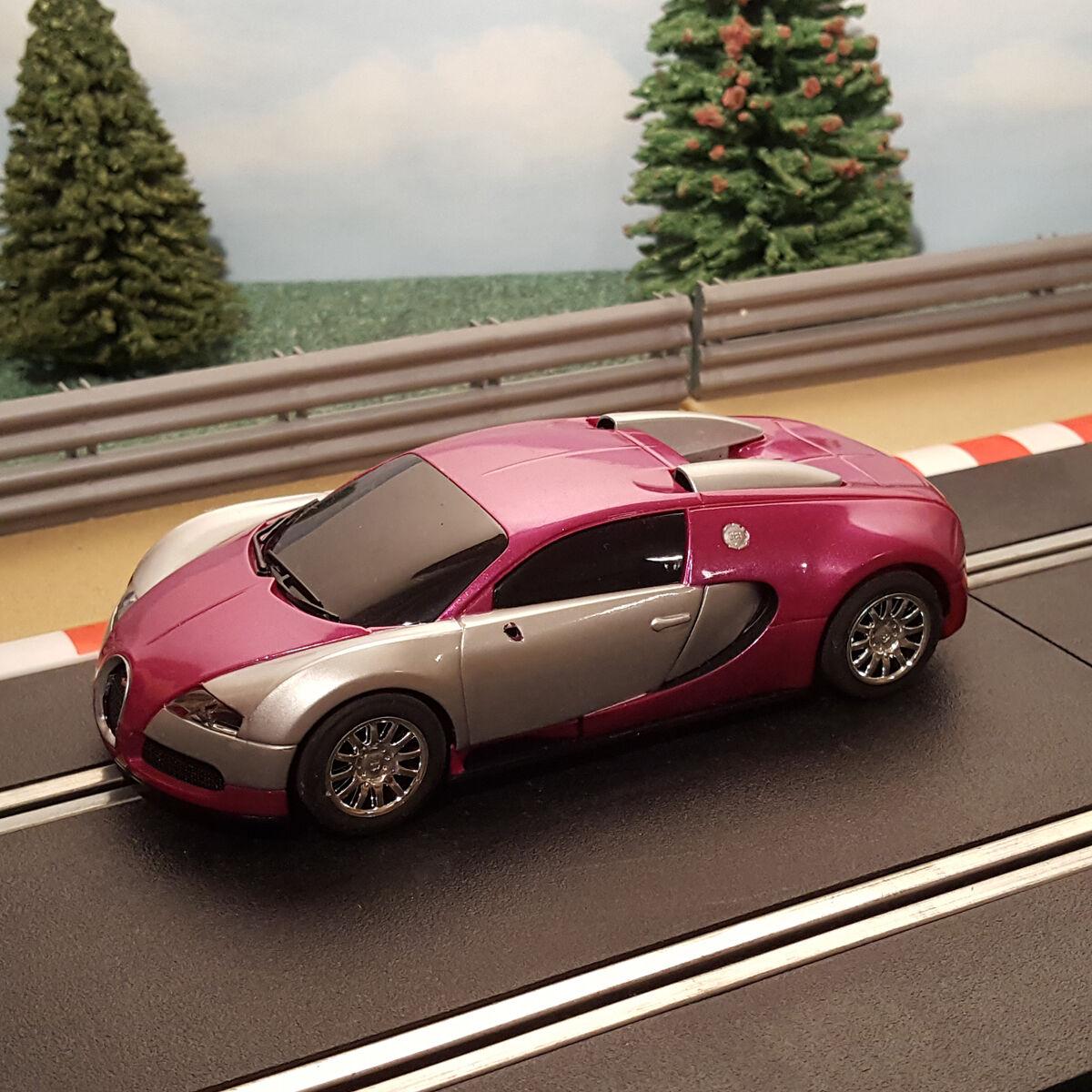 Scalextric 1 32 Digital Car - Purple Bugatti Veyron  M