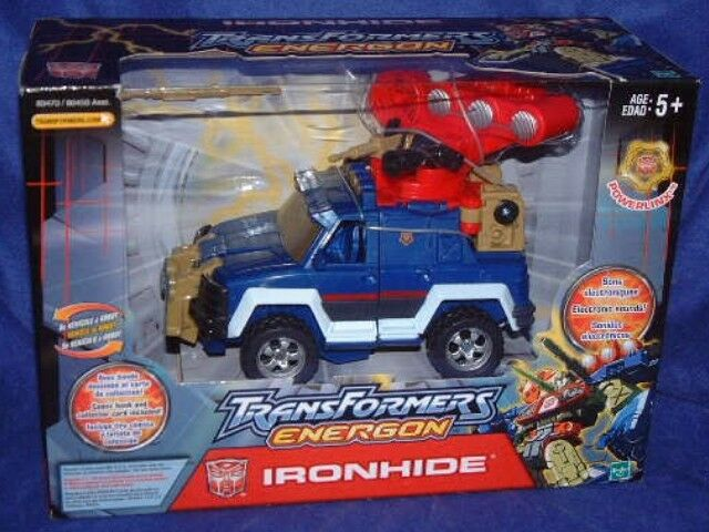 Transformers Energon IRONHIDE Powerlinx Factory Sealed New Electronic Sound 2003