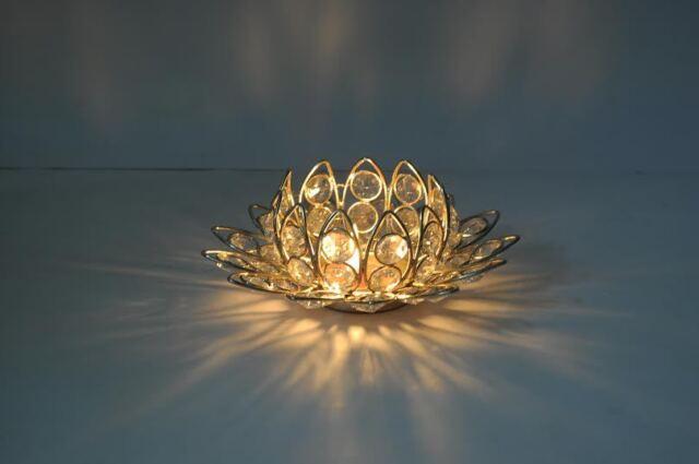 Lotus Flower Crystal Tealight Votive Candle Holders Wedding