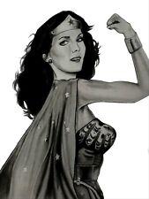LINDA VAUGHN SUPER WOMAN INDY 500 NHRA AUTOGRAPHED COLIN CARTER LITHOGRAPH
