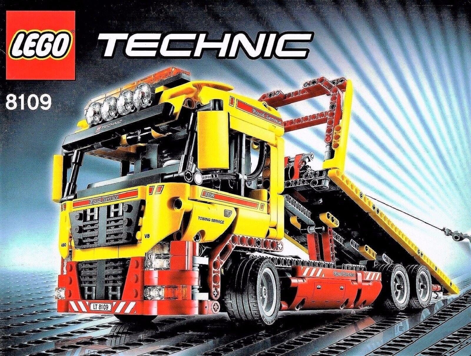 Lego Technic Technic Technic 8109 Remorquage à faible charge avec fonction de puissance et instr 17bfe3
