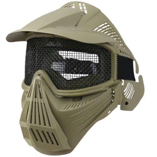Intégral Maille Masque Acier Grille Airsoft Air Soft de Protection Aéré Shield