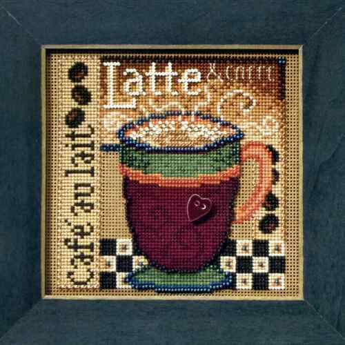 MILL HILL Buttons Beads Kit Counted Cross Stitch LATTE MH14-8205