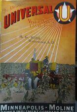 Minneapolis Moline U Farm Tractor Color Sales Brochure Catalog Manual Mm Ag 1949