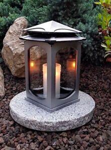 Grablampe-Grablaterne-Lampe-Grableuchte-Grablicht-Grabschmuck-Friedhof