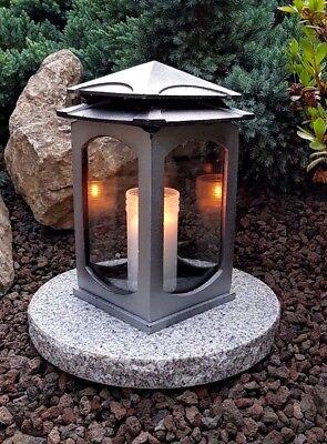 Einfach Grablampe Mit Sockel Grablaterne Lampe Grableuchte Grablicht Grabschmuck Kerze