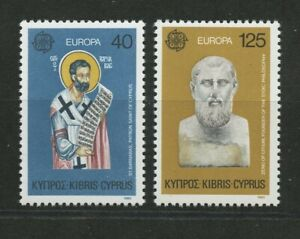 Holy Cross Zeno of Citium Europa two mnh stamps 1980 Cyprus #533-4