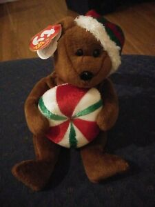 TY Beanie Baby - YUMMY the Holiday Bear (8.5 inch) - MWMTs Stuffed Animal Toy