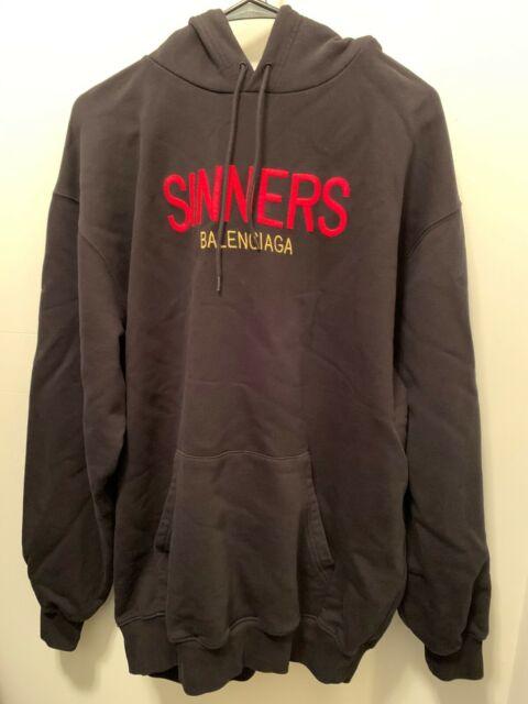 Balenciaga oversized mens SINNERS hoodie szXS NWT Retail ...