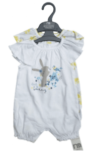 Mothercare Rabbits Baby Girls Rompers Bodysuits Short Sleeve 2 PACK Bunny Summer