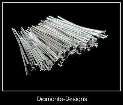 200 x 22mm Silver Plated Head Pins Jewellery A157