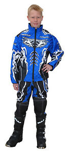 """Wulfsport Blue 34"""" pro fx motocross ride race jacket 28"""" kids pants force 10"""