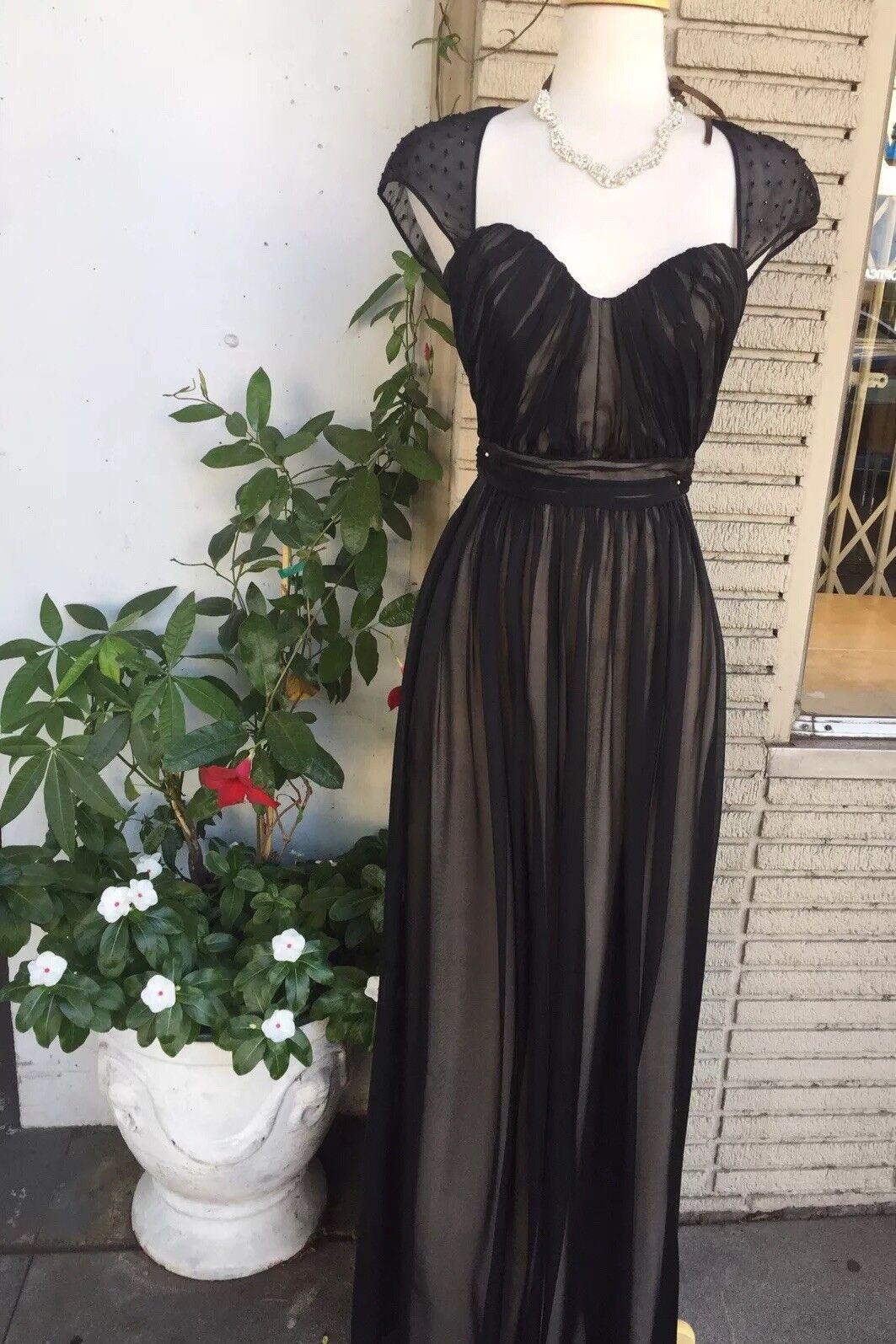 ABS Cocktail robe 100% soie mousseline taille neuf sans étiquette