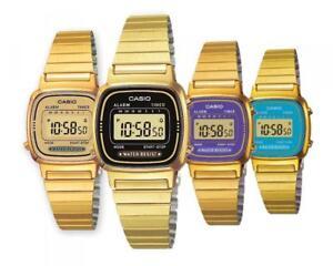 Reloj De Mujer CASIO Vintage LA-670WG Acero Oro Chrono Clásico ... 98cd398b069f