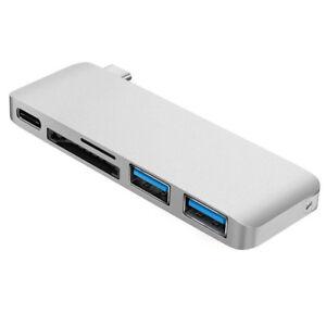 5-in-1-Hub-TIPO-C-per-USB-3-0-Adattatore-Charge-Sync-LETTORE-DI-SCHEDE-ADATTO