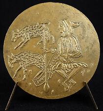 Médaille à l'écrivain Jean de Brie dit le Bon Berger sc Auricoste 1955 Medal
