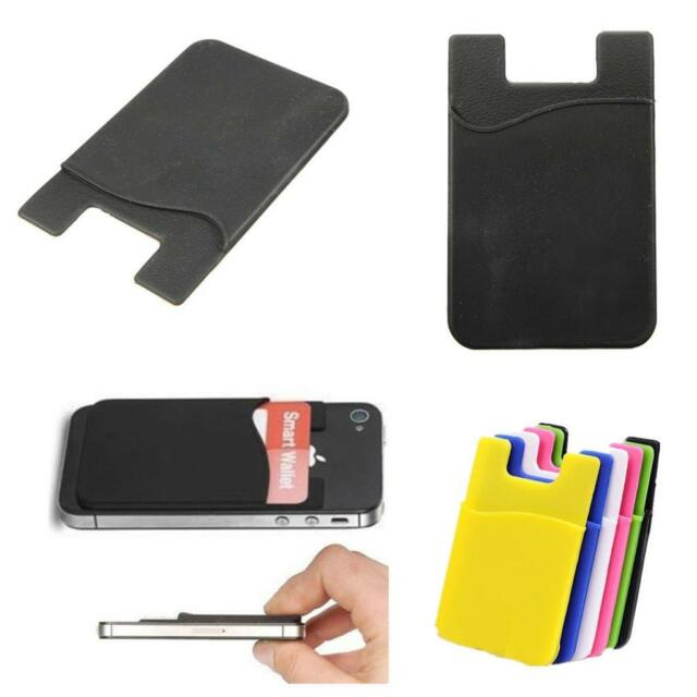 Silicone Mobile Phone Wallet Credit Card Cash Stick Adhesive Holder Case Gift