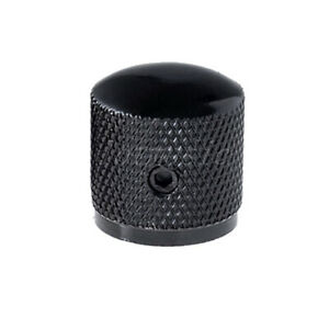 10-Dome-brass-Knob-Screw-style-Solid-Shaft-black-speed-knob-for-guitar-parts