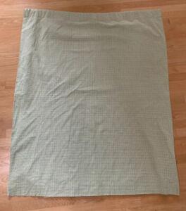Pottery-Barn-Kids-Green-White-Gingham-Blackout-Drapes-Panel-Curtain-44X63