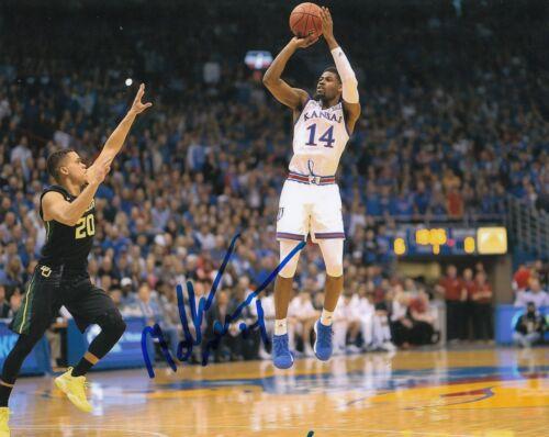 Malik Newman Signé (Kansas Jayhawks) Basketball NBA 8X10 Photo W / Coa #1