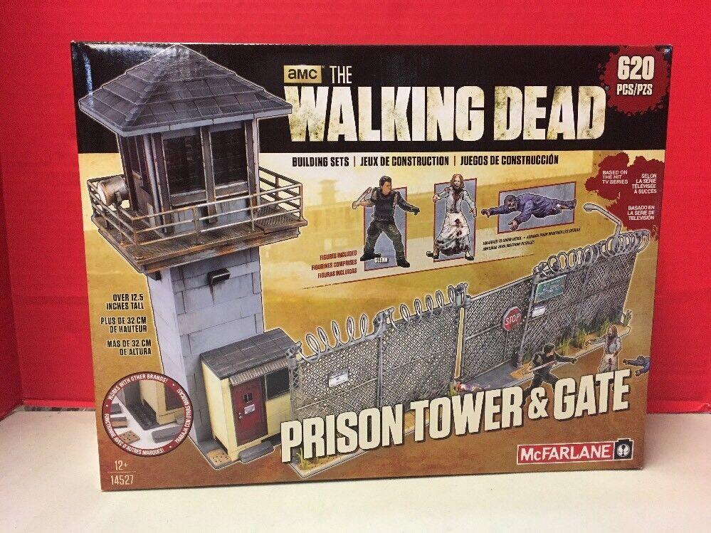 Die lebenden toten gefängnis turm und tor glenn zombies gebäude mcfarlane amc