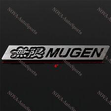 3D Car Trunk Emblem Badge Sticker Decal MUGEN Black for HONDA CIVIC - Aluminum