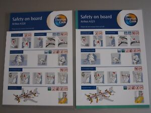 Thomas Cook Airlines Airbus A320 /& A321 Safety On Board Cards