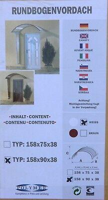 Haustür 170660 Verantwortlich Polymer Rundbogenvordach Weiß 158 X 90 X 38 Cm Vordach