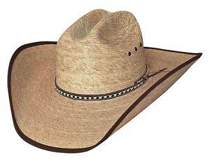 db8300b508802 New Bullhide Hats WIDE OPEN 15X Palm Leaf Straw Cowboy Western Hat ...