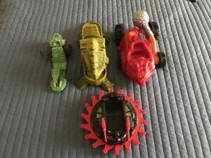 Lot de 4 Mattel Vintage He-man Masters Les véhicules de l'univers (1982 - 1984)