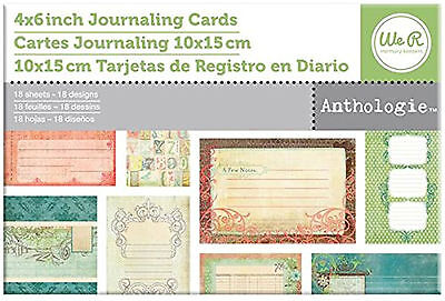 WeRMemoryKeepers ANTHOLOGIE (18) JOURNAL CARDS scrapbooking 99 CENT SALE!