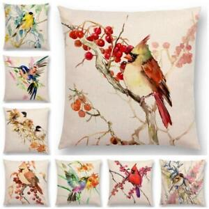 Bird-Tree-Cotton-Linen-Pillow-Case-Cushion-Cover-Waist-Cover-Home-Decor