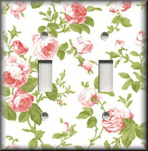 Light Switch Plate Cover Vintage Pink Roses Shabby Chic Home Decor Floral Ebay