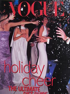 KATE MOSS  MAGGIE RIZER  GISELE BUNDCHEN 1999 Vouge Supplement HOLIDAY CHEER