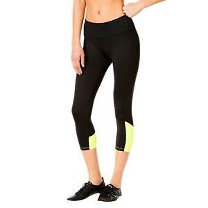 f1a32b39d1 Calvin Klein Performance Women s Shirred Color Block Crop Legging ...