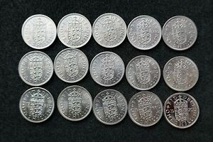 Elizabeth-English-Shillings-1953-to-1970-Bright-Uncirculated-or-Proof