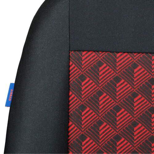 Schwarz-rot Effekt 3D Sitzbezüge für ALFA ROMEO 156 Autositzbezug VORNE