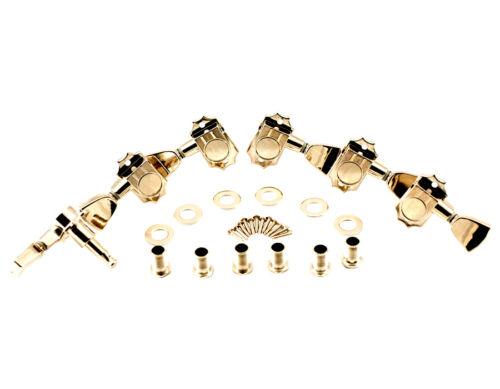 Kluson Revolution Tuners Nickel KED-3801N 3x3 Metal keystone button