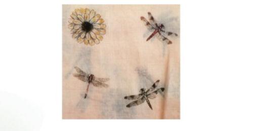 Dragonfly Stampa Sciarpa Donna Libellule Scialle//Hijab Avvolgere morbido di qualità